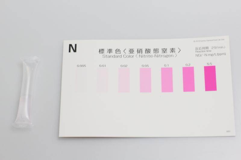 パックテストによる亜硝酸測定