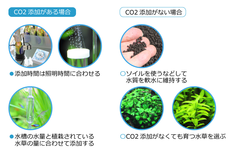 CO2添加の有無