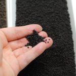 JUN プラチナソイル パウダー の色・粒の大きさ