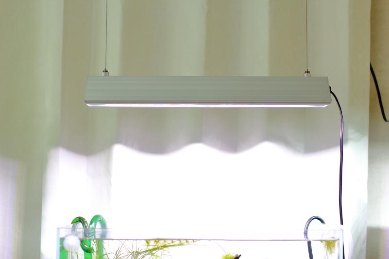 水槽の照明を天井から吊り下げる方法